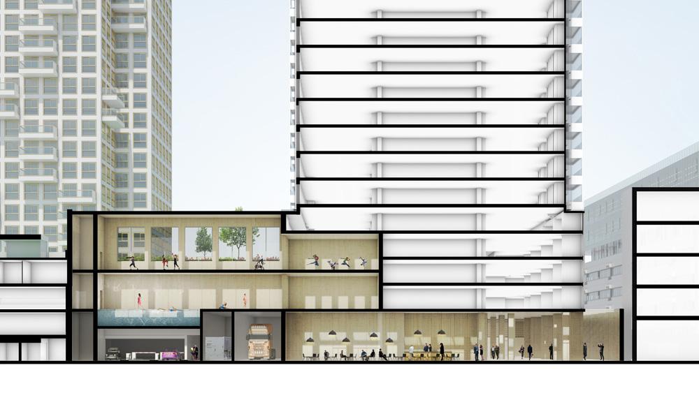 Nieuw beeld van de zalmhaven rtm xl - Zwembad toren ...